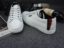 Famous Men's Shoes Flats Men White Brand New Shoes Designer Shoes Genuine Leather Anti-Slippery Massage 9 size