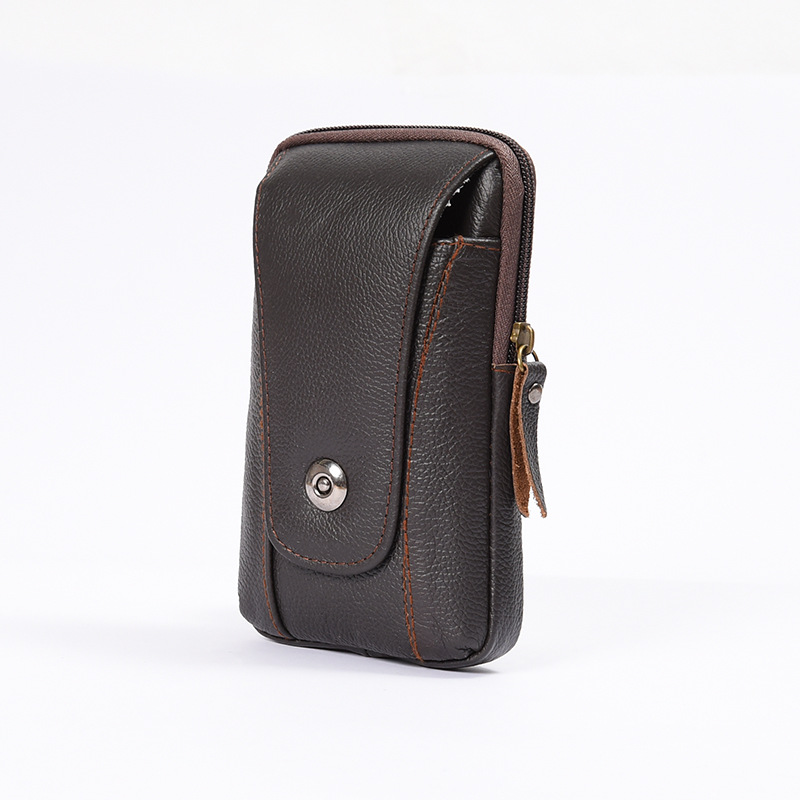 BISI GORO Multi-function Phone Coin Men Waist Bag Vintage On The Belt Outdoor Small Wallet 2019 Wear-resistant Fanny Waist Pack