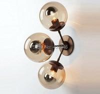 2016 Nordic Modern 3 Heads Bulbs Magic Bean DNA Glass Ball Home Decor Wall Lamp Restaurant Cafe Bar Hall Coffee Shop Club Store