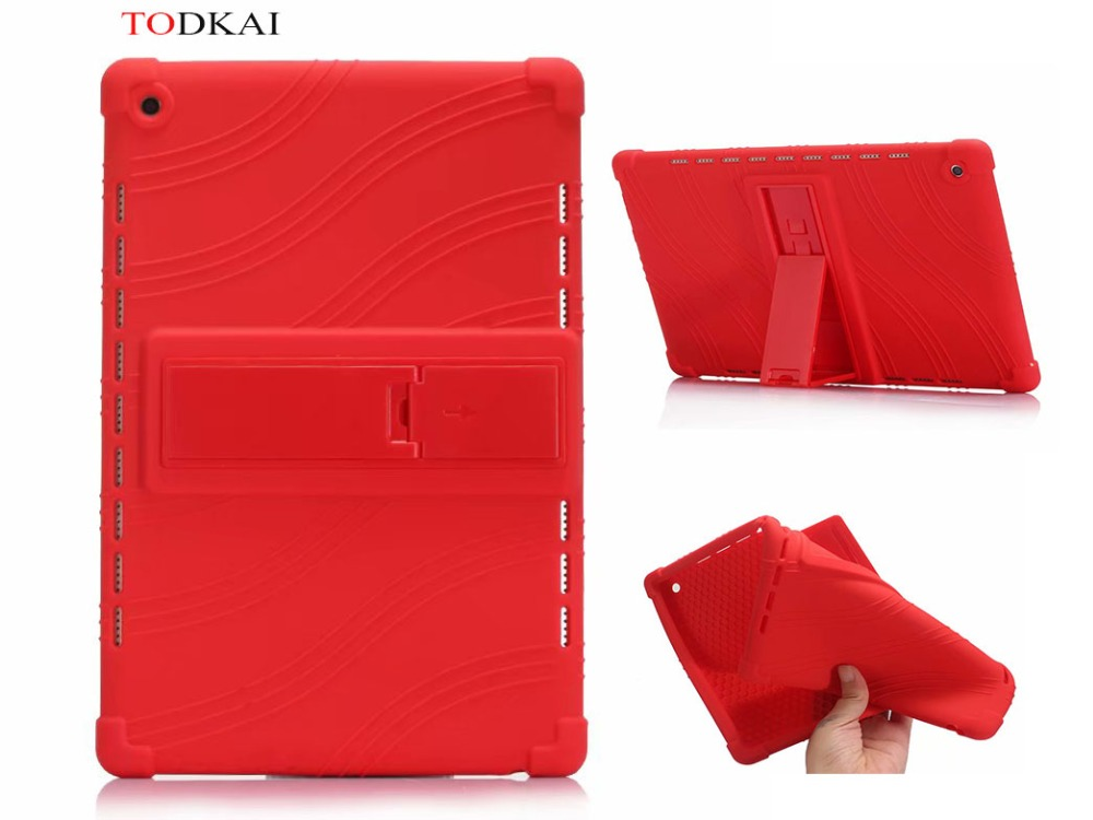 For Huawei mediapad M5 10(PRO) 10.8 inch CMR-AL09 kid Soft Silicone Back Cover for Huawei mediapad M5 10 tablet Kickstand case case for huawei mediapad m5 10 8 inch cmr al09 wireless bluetooth keyboard protective mediapad m5 10 pro 10 8 tablet cover case