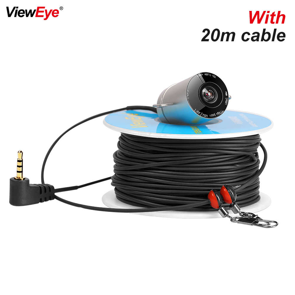 ViewEye V02H Single Underwater Fishing Camera Fish Finder 6PCS Infrared Lamp IR LED 20m Cable For 4.3 Inch With Record