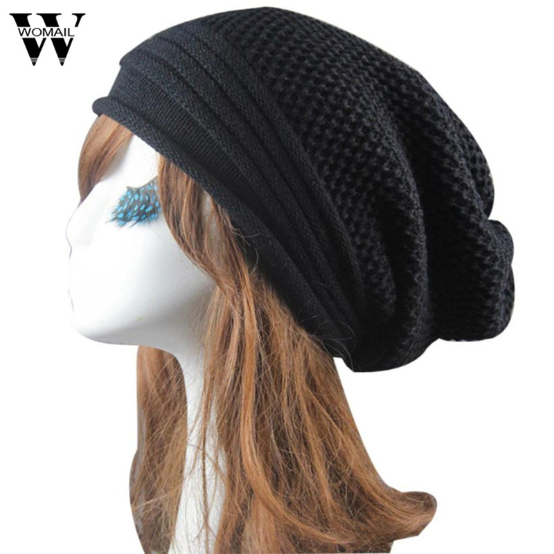 Women Knitted Beanie Cap Winter Hats Gorro Chapeu Solid Color Hip-Hop Baggy Cap 2016 limited gorro gorros brand new women s cotton hip hop ring warm beanie cap winter autumn knitted hats beanies free shipping