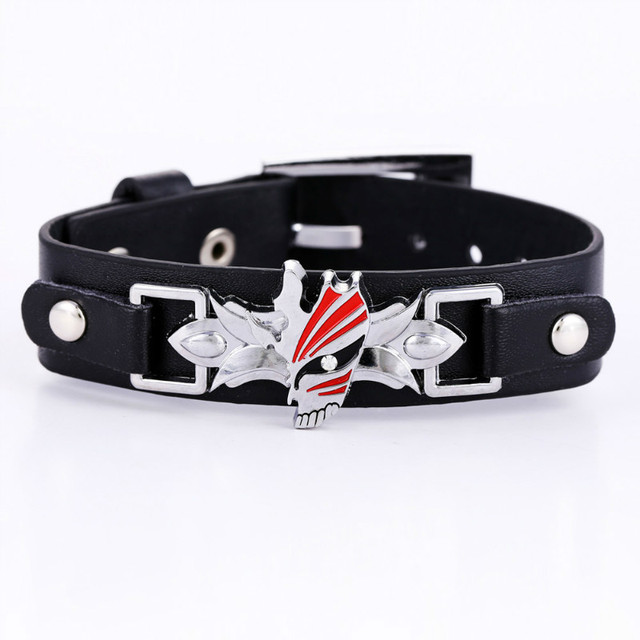 Attack on Titan Naruto Konoha Sharingan Leather Bracelet