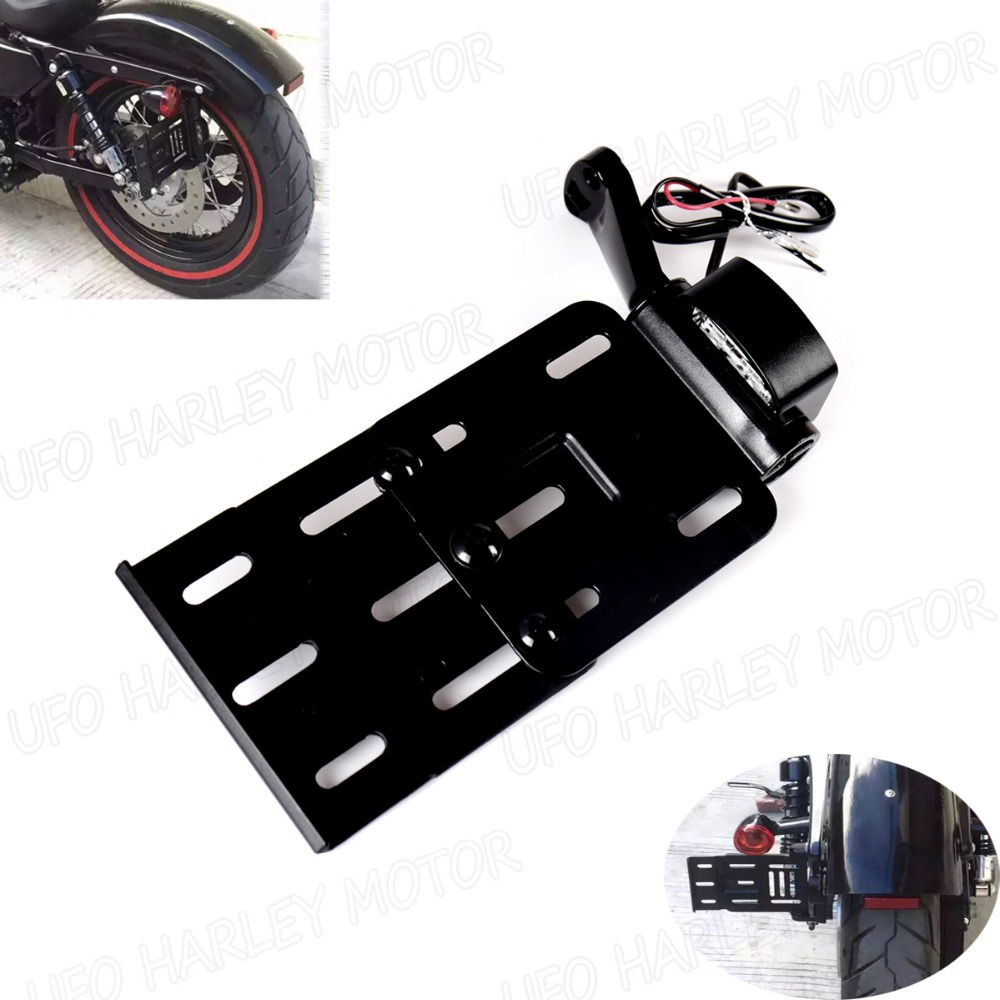Collapsible Led Side Mount License Plate Bracket For