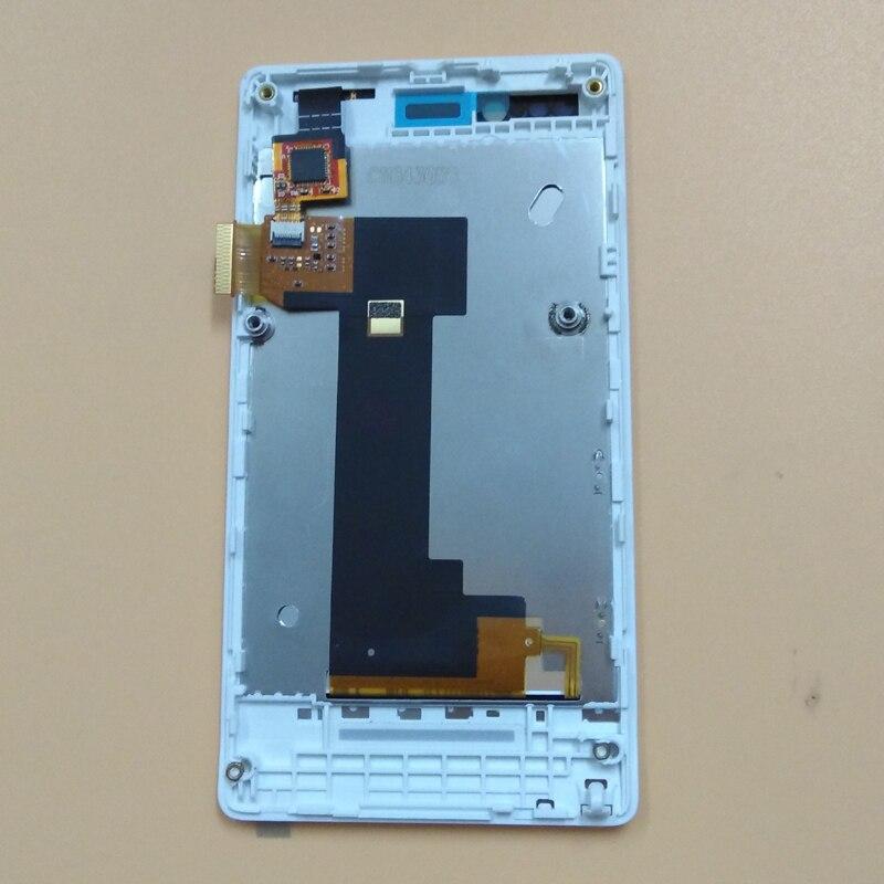 Pour Sony Xperia Miro ST23 ST23i ST23 WhiteTouch Écran Digitizer Panneau Capteur En Verre + LCD Module D'affichage Moniteur Assemblée Cadre
