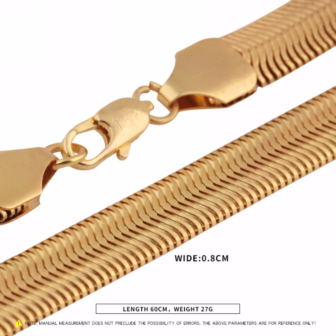 Unisex Snake Chian Necklace Fashion Hip Hop Gold Color Filled DIY  Necklaces Chains For Men Jewelry Accessories