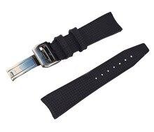 Роскошные группа, 22 мм натуральный каучук часы ремешок ремешок и пряжки для IW пилота хронограф португалии с оригинальным логотипом