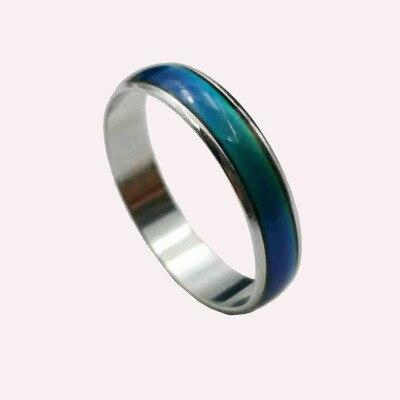 EntrüCkung Verkauf Wie Heiße Kuchen Ring Kreative Kleine Schmücken Artikel Wärme Die Stimmung Farbe ändern Ring Ring Für Männer Und Wome