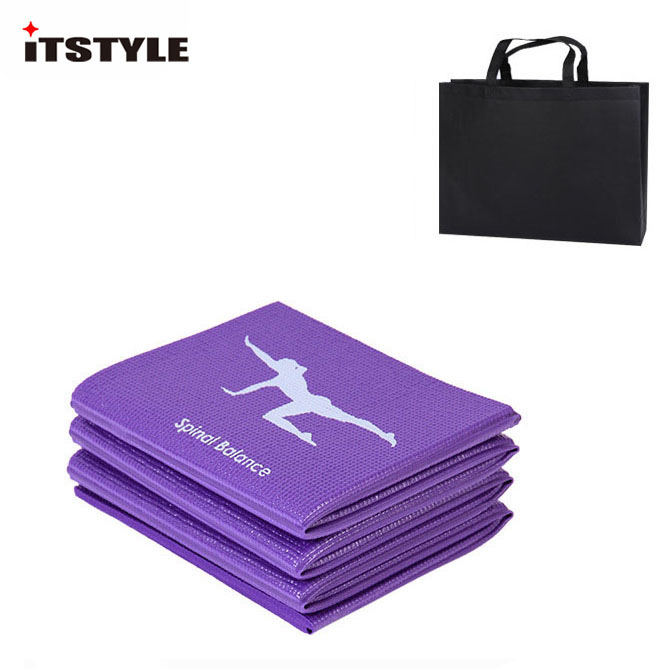 PVC Foldable Yoga Mat Exercise Pad Thick Non-slip Folding Gym Fitness Pad Pilates Supplies Floor Play Mat