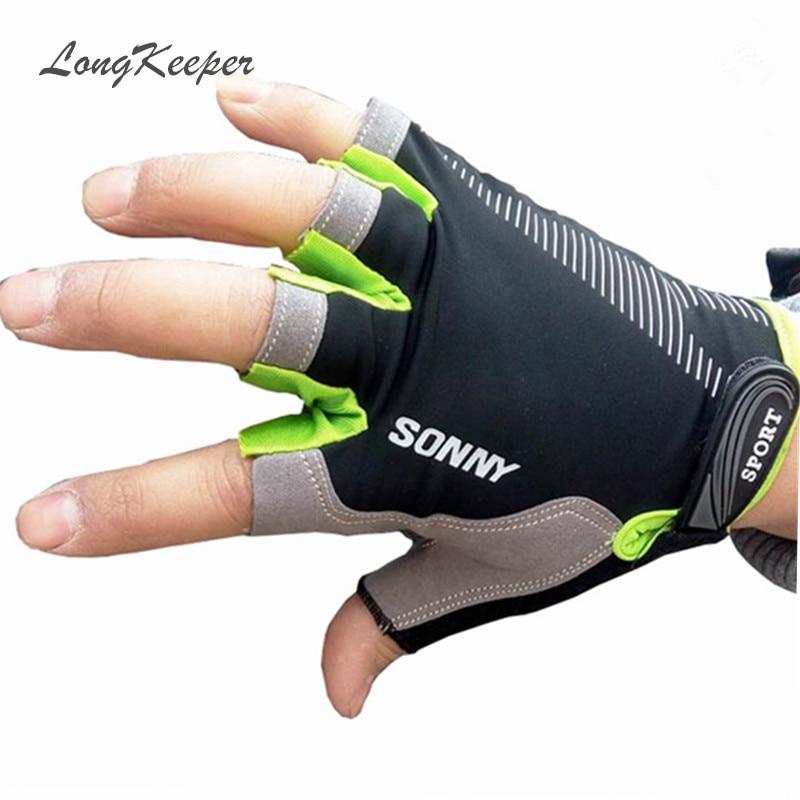 Sport Gloves For Gym: LongKeeper Unisex Sport Gloves Fingerless Women Men Gloves