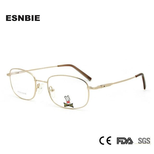 053d1270dfd7d ESNBIE Prescrição Armações De Óculos para Crianças Óculos de escola  Adolescente New Metal de Materiais Monel