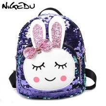 99a598b8e9679 NIGEDU Küçük sırt çantası kızlar için çocuk Sevimli tavşan yay schoolbag  Moda sequins mini Sırt Çantaları kadın bagpack 2019 bol.