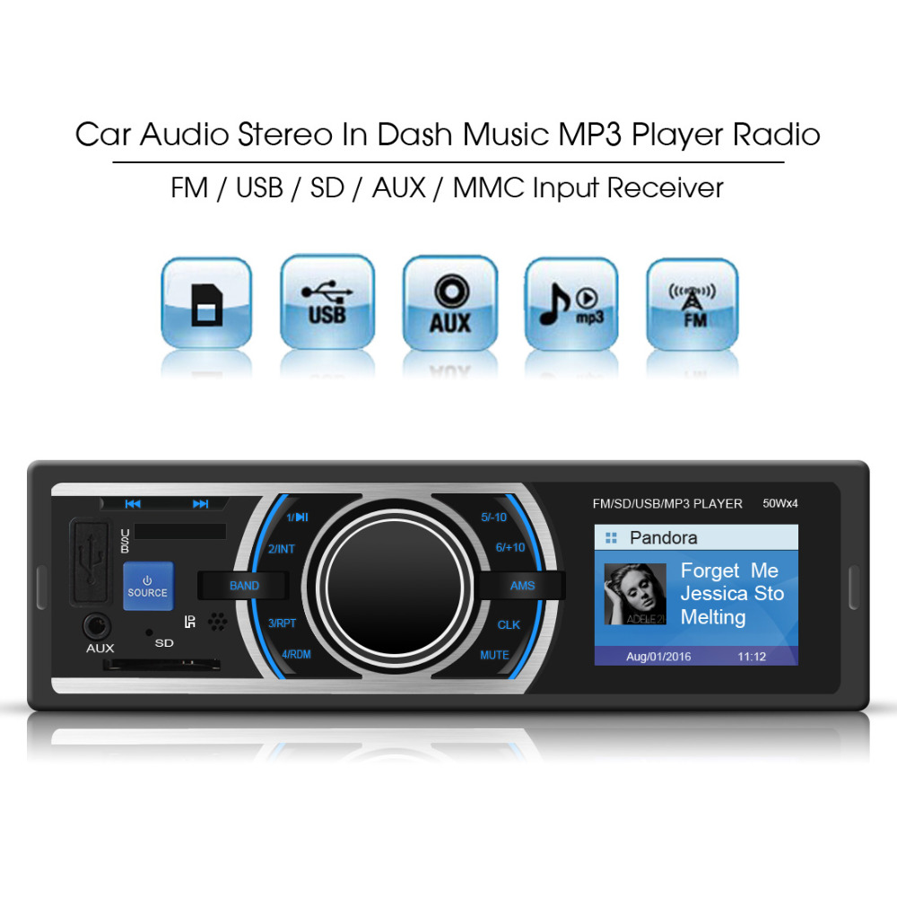 in dash auto car radio stereo mp3 player audio music. Black Bedroom Furniture Sets. Home Design Ideas