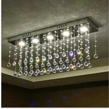 מודרני פשוט מצופה קריסטל ברק תקרת אורות LED Plafonnier תקרת סלון חדר שינה מסעדת מלון