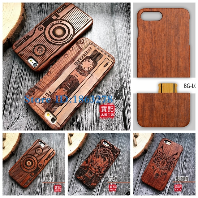 wholesale dealer 18f88 24a64 US $9.49 5% OFF|Rejaski Brand Tape Camera Designs Wood Phone Case For Apple  iphone 5 5S SE 6S 7 Plus 6Plus 7plus Wooden Mobile Cover Bags-in Fitted ...