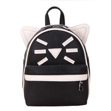 Милый кот рюкзак модная одежда для девочек из искусственной кожи рюкзак Цвета девочек свежий кампуса ежедневно рюкзак милый кот рюкзак