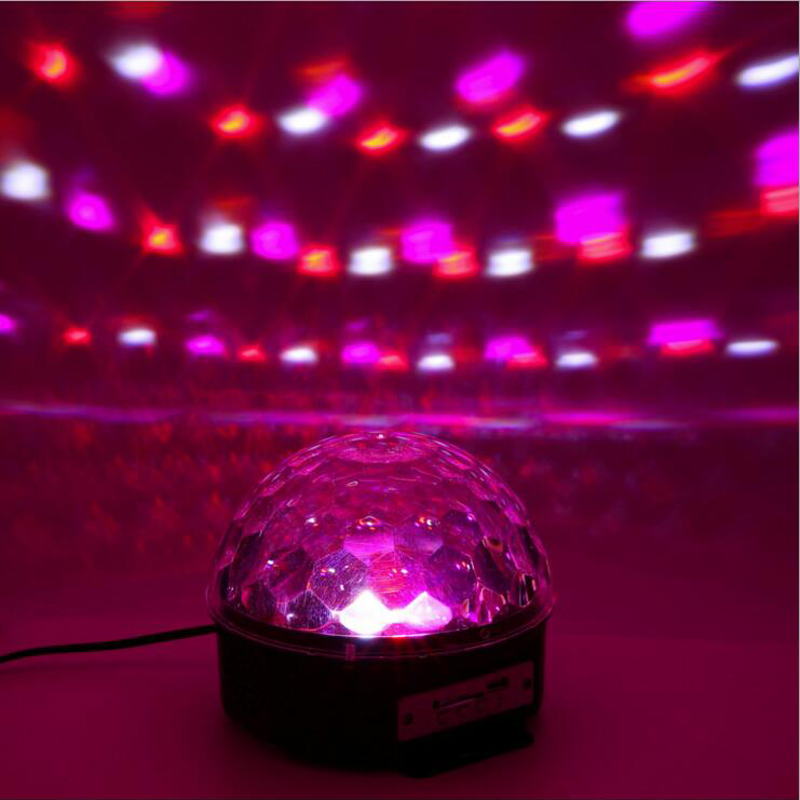 Digital RGB LED Music Crystal Magic Ball Effect Light MP3 USB DMX Disco DJ Stage Lighting+Remote Control+Bluetooth Control mini rgb led party disco club dj light crystal magic ball effect stage lighting