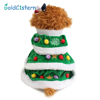 pet dog christmas tree dress clothes pet warm winter clothing puppy large dogs cat christmas apparel coat wear - Large Dog Christmas Outfits