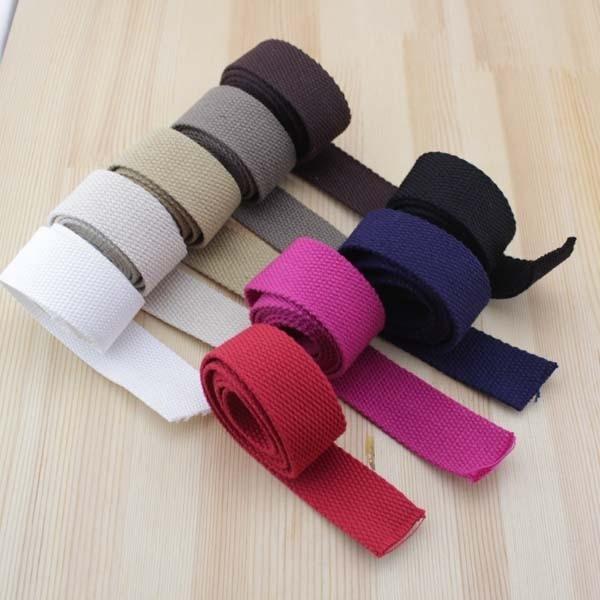 10yar Lot 30mm Canvas Ribbon Belt Cotton Webbing Lable For Diy Bag Handle