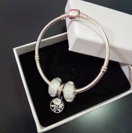 100% Аутентичные стерлингового серебра 925 с подвесками змея цепи Европейский Шарм браслет Для женщин Pulseira ювелирные изделия