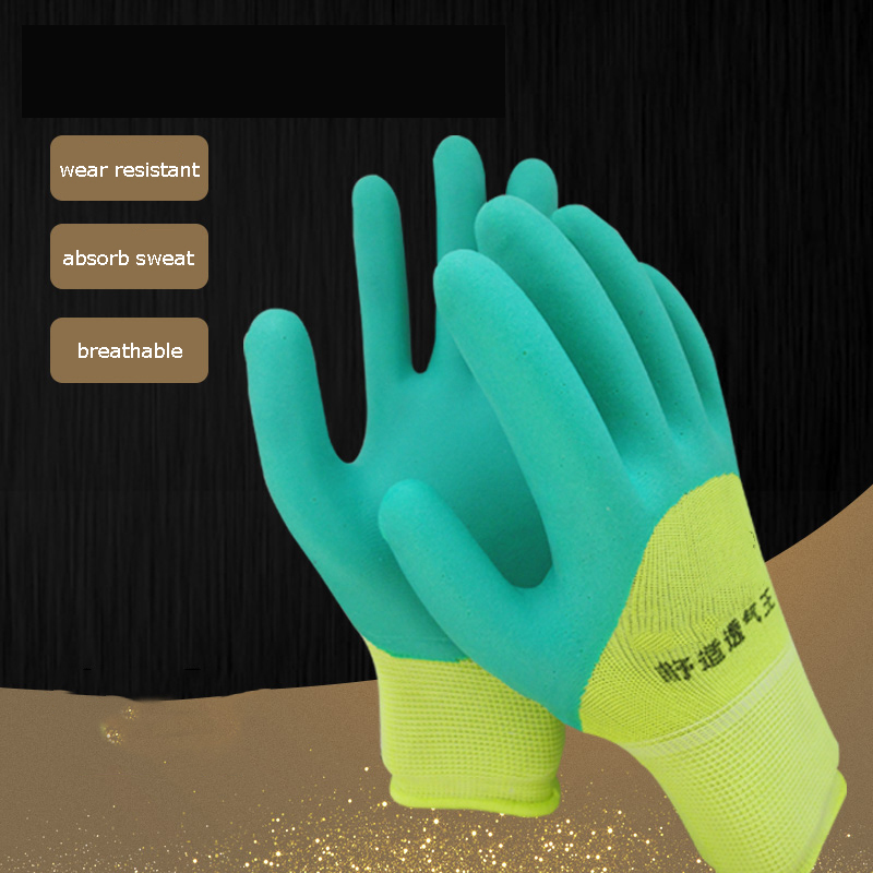 5/12pairs Latex Work Gloves Natural Breathable Comfortable Wear-resistant Anti-slip Construction Maintenance Protective Gloves5/12pairs Latex Work Gloves Natural Breathable Comfortable Wear-resistant Anti-slip Construction Maintenance Protective Gloves