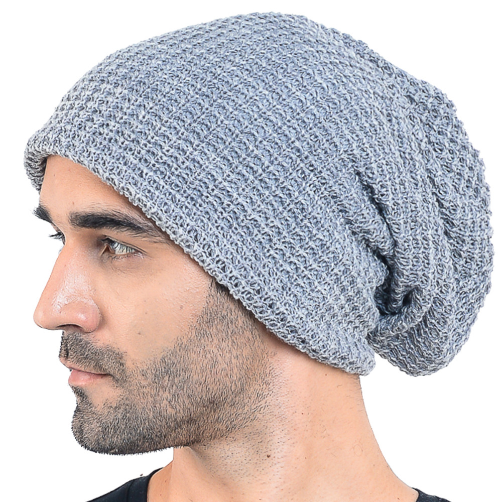 6139bdb843a25 HISSHE Oversized Mens Winter Beanie Cap Classic Slouchy Knit Skullies Cap  Baggy Warm Ski Hat For Unisex-in Skullies   Beanies from Apparel  Accessories on ...