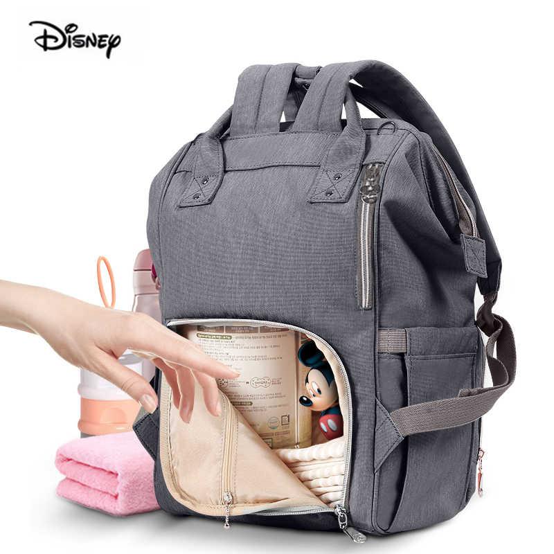 Рюкзак для подгузников с изображением Минни Дисней, водонепроницаемая многофункциональная сумка для мамы с большой емкостью, сумка для подгузников, Детская сумка для мамы, дорожная сумка