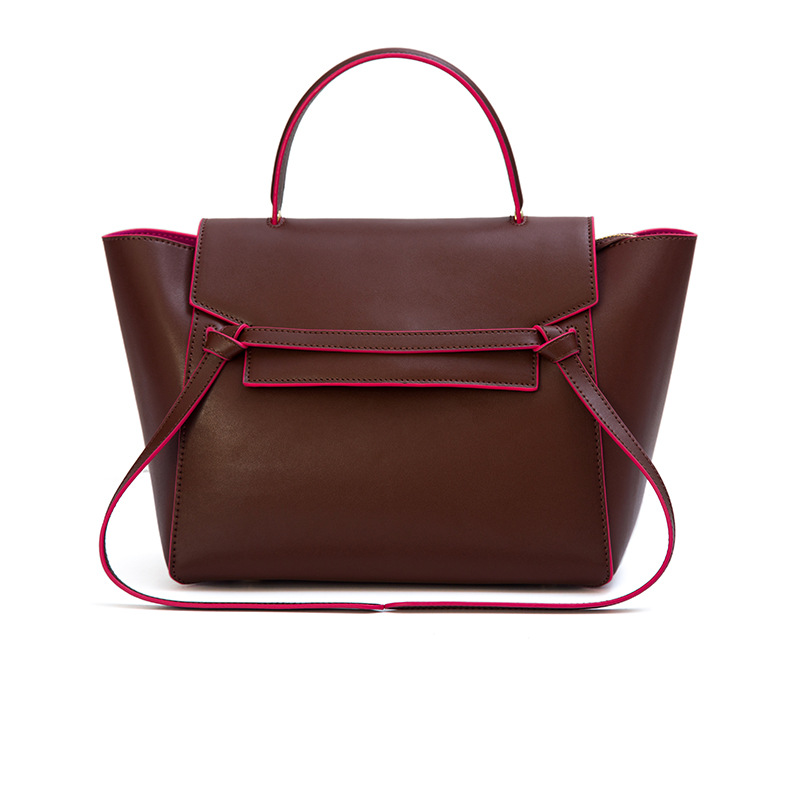 ФОТО 2017 Large Real Leather Tote Bag For Women Designer Luxury Handbag Belt Bag Female Shoulder Crossbody Trapeze Bags Famous Brand