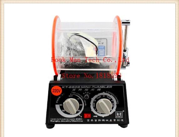 Shenzhen Jewelry Tools 3kg Capacity Rotary Rock Tumbler Gold Silver Polishing Machine 1pc/lot