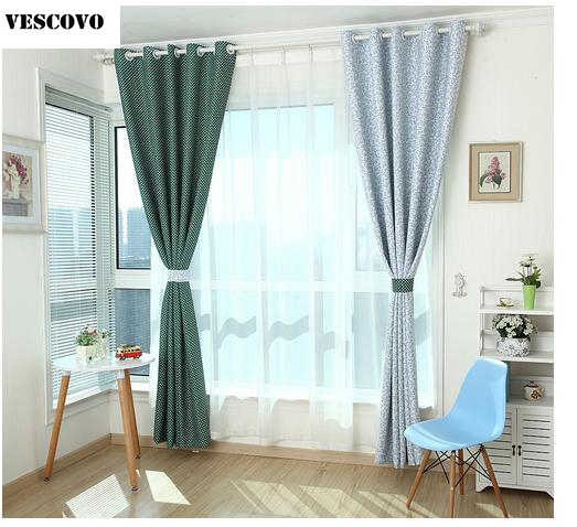 US $23.76 12% OFF|VESCOVO mode fenster vorhang wohnzimmer startseite  vorhänge set marine grau tuch vorhänge in VESCOVO mode fenster vorhang  wohnzimmer ...
