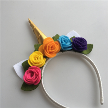 Фотография new products 2018  kid hair accessory unicorn headband flower crown for kids