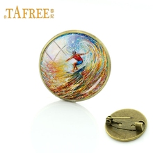 Life Is Always Better When I Surf Retro Style Surf Pin Badge