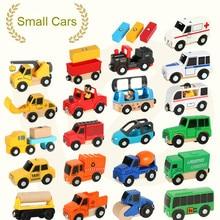 EDWONE деревянный магнитный Поезд Самолет деревянная железная дорога автомобиль грузовик аксессуары игрушка для детей подходит дерево Toma s Biro треки подарки