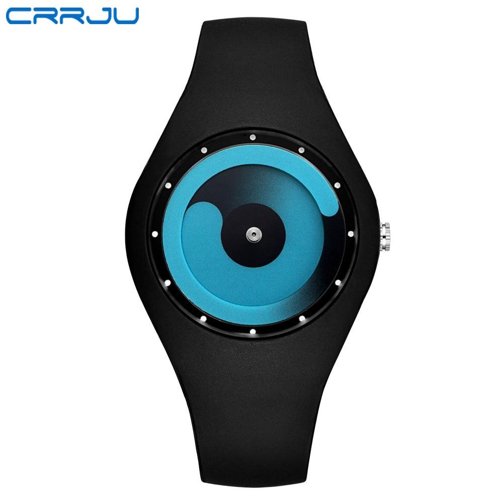 Watch Women CRRJU brand Fashion Casual quartz watch Men watches Montre Femme Reloj Mujer Silicone Waterproof Sport Wristwatches