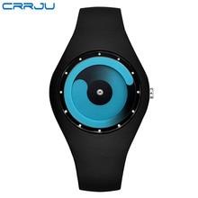Часы Для женщин crrju модный бренд Повседневное кварцевые часы Для мужчин часы Montre Femme Reloj Mujer силиконовые Водонепроницаемый Спорт Наручные часы