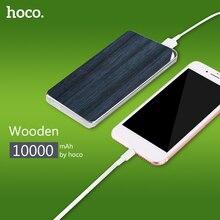 НОСО Запасные Аккумуляторы для телефонов 10000 мАч большой Ёмкость камень и деревянный Мощность банк литий-полимерный Батарея светодиодные фонари Питание