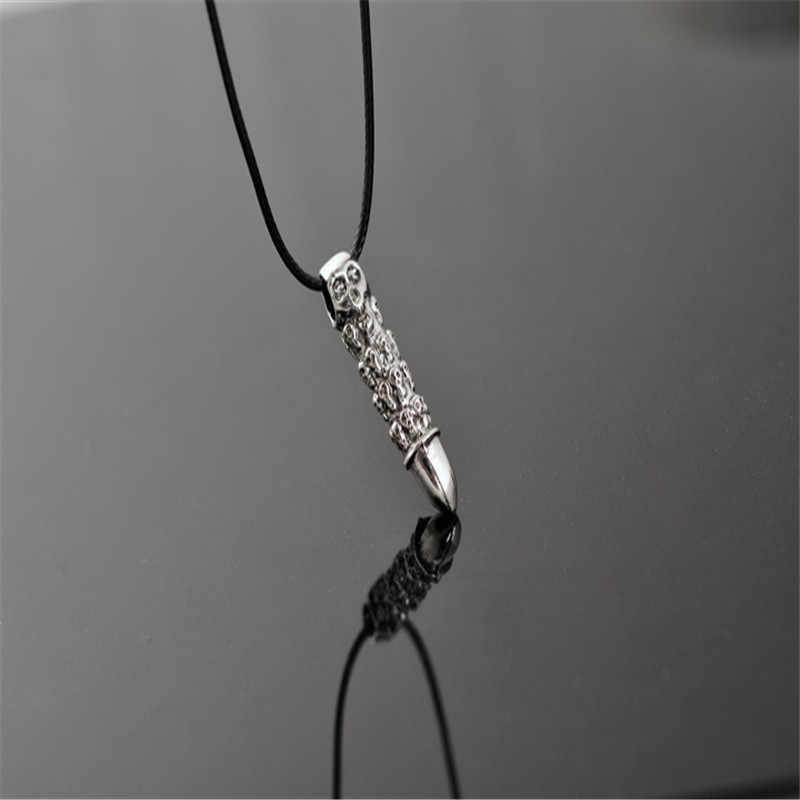 ヘッドゴーストスカル弾丸ペンダントネックレスファッションヒップホップジュエリー男性ネックレス CX19