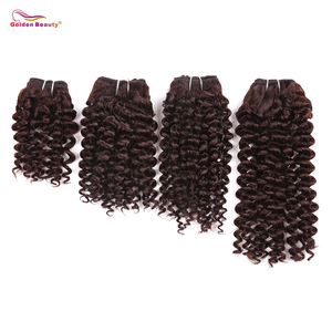 8-14inch Curly Hair Bundles Heat Resistant Synthetic Weaves Sew in Hair Extensions Short Curly Weave 4pcs/pack Golden Beauty