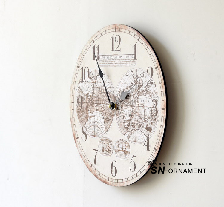 World map europe style fashion nostalgia wood wall clock frameless world map europe style fashion nostalgia wood wall clock frameless paintings large decorative clocks in wall clocks from home garden on aliexpress gumiabroncs Image collections