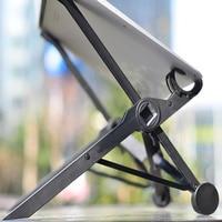 Laptop Stand Foldable Black Adjustable Notebook Holder Eye Level Ergonomic HSJ 19