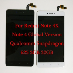5.5 For Xiaomi redmi note 4X Qualcomm Snapdragon 625 3GB 32GB LCD Display + Touch Screen Digitizer Redmi note 4 Global Version