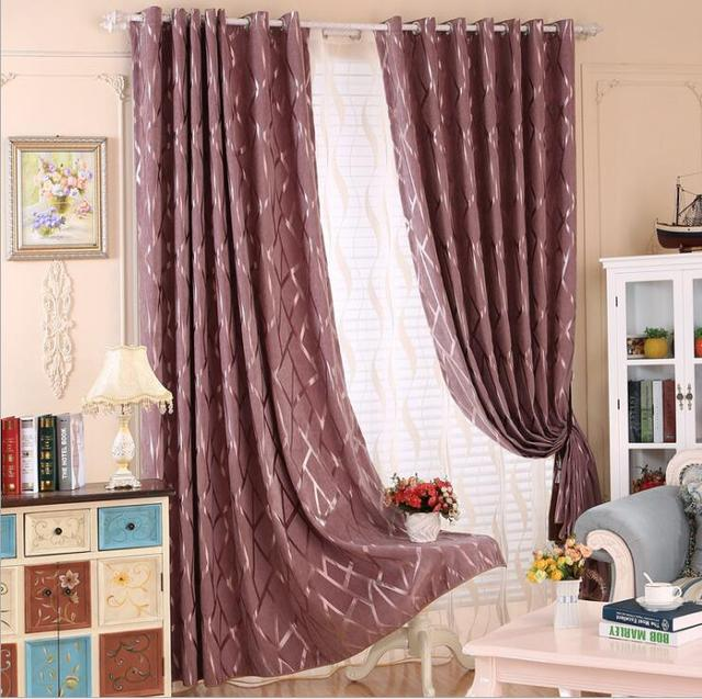 US $23.96 60% OFF|New Thicking Chenille Fabric Silver Jacquard High  Blackout Curtain For Bedroom Living Room Window Blind Custom Made  Curtain-in ...