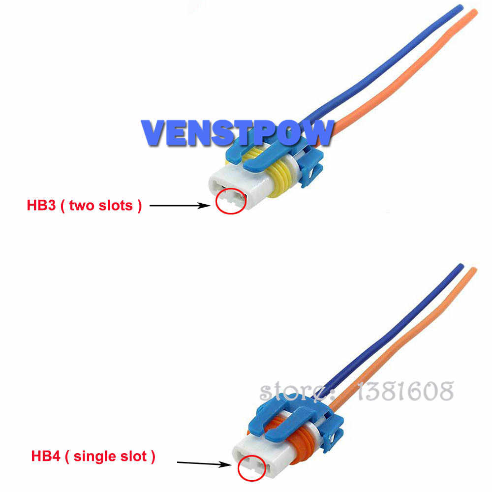 1pc car h1 h4 h7 h11 hb3 hb4 headlight ceramic bulb holder extension  automotive wire halogen