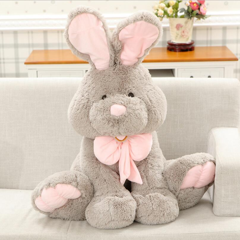 Huge Size 80cm Lovely American Big Rabbit Stuffed Animal Toys Cute Rabbit Doll America Rabbit Kids Baby Dolls all long size 30cm real picture wedding doll lovely plush toys small size rabbit mobile phone chain sucker toys