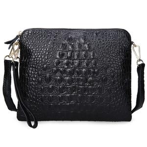Image 3 - Ipad Mini Tassen Nieuwe Aankomst Tas Fashion Echt Lederen Handtassen Vrouwen Aligator Clutch Bag Messenger Schoudertassen A216