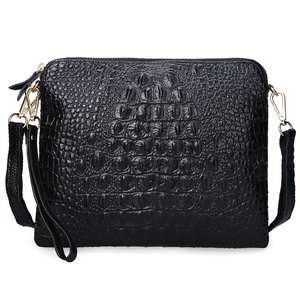 Image 3 - ipad Mini Bags New Arrival Bag Fashion Genuine Leather Handbags Women Aligator Clutch Bag Messenger Shoulder Bags  A216