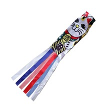 140cm Japanese Carp Spray Windsock Streamer Kites Fish Flag Koinobori Kite Cartoon Colorful Wind Sock