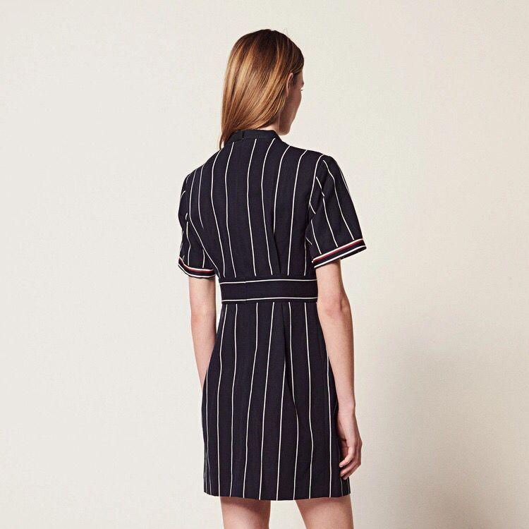 2019 Nuovo Delle Donne Vestito A Righe Slim Fit Manica Corta Estate Mini Vestito-in Abiti da Abbigliamento da donna su  Gruppo 2
