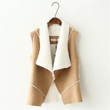 Women Vests Version Of Casual Solid Color Suede Sleeveless Vest Female Fashion Tide Temperament Cardigan Coat Suede Leather S225