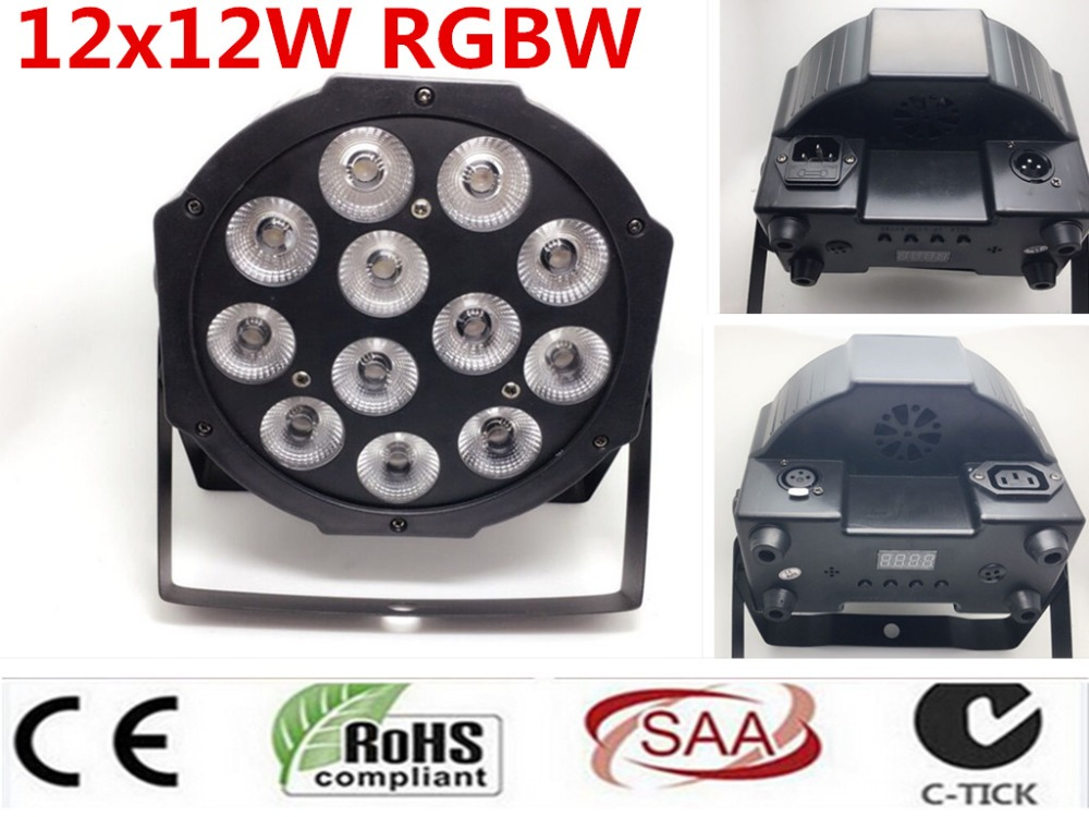 2Pcs CREE RGBW 12x12 W LED Flat SlimPar Quad Luce 4in1 LED DJ Wash Stage Light dmx luce della lampada 4/8 channes2Pcs CREE RGBW 12x12 W LED Flat SlimPar Quad Luce 4in1 LED DJ Wash Stage Light dmx luce della lampada 4/8 channes